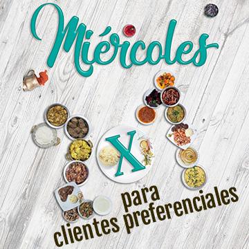 TODOS LOS MIÉRCOLES 2X1